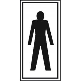 Plaque Picto Wc Homme - 7,5x15cm